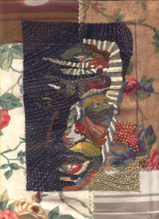 1998, mixed media embroidery