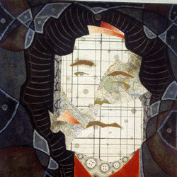 Untitled Woman, 1996 - mixed media drawing